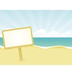 wodden beach sign vector image