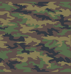 Woodland hunting camoflauge seamless pattern vector