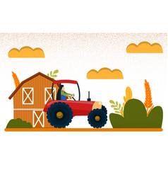 Work on farm harvesting for your design vector