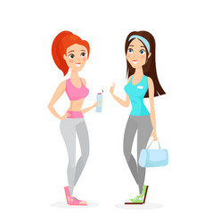 young girls in sport vector image