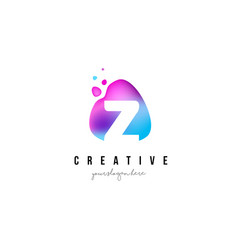 z letter dots logo design with oval shape vector image