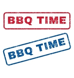 BBQ Time Rubber Stamps vector image