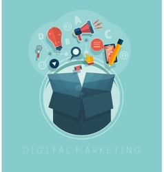 Digital marketing concept vector image vector image
