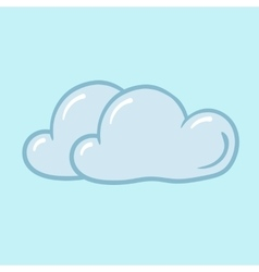 icon cloudy vector image