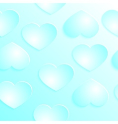 Love hearts Valentins Day Seamless Pattern vector image