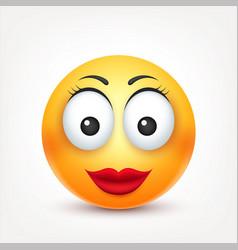 smileysmiling angrysadhappy female emoticon vector image