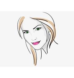 woman 1 vector image