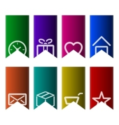 A set of colourful bookmarks vector image