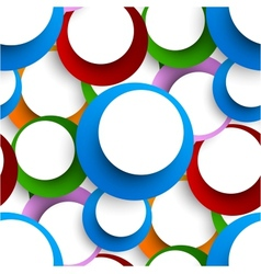 Abstract seamless backgorund with circles vector image