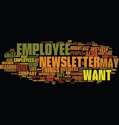 Employee newsletter text background word cloud vector