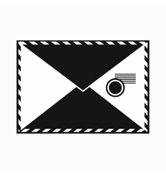 Envelope with stamp icon simple style vector image