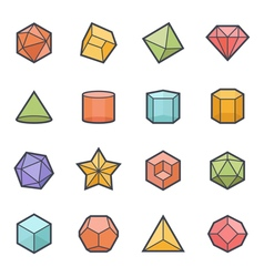 Geometric Shapes Icon Bold Stroke vector image vector image