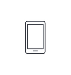 smartphone mobile phone thin line icon linear vector image