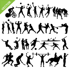 Sport players silhouettes vector image