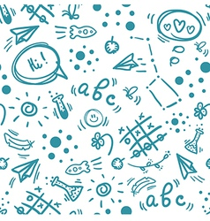 Back to school hand drawn doodle seamless pattern vector image