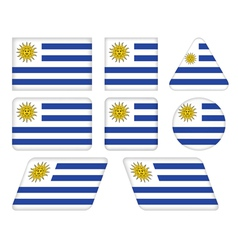 buttons with flag of Uruguay vector image vector image