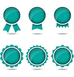 colorful Label set vector image