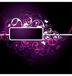 fancy dark purple background vector image vector image