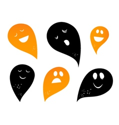 ghost silhouettes vector image vector image