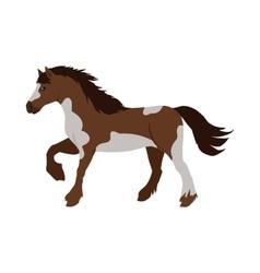 Horse in Flat Design vector image