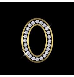 Number zero sign vector image