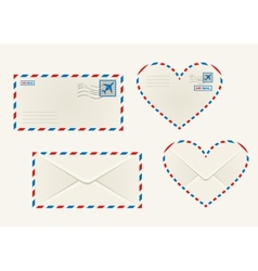 Different airmail envelopes vector image