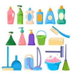 Household Cleaning Equipment Set vector image vector image