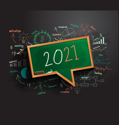 2021 new year business success strategy plan idea vector