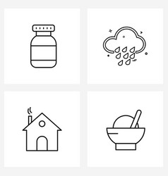4 universal icons pixel perfect symbols bottle vector