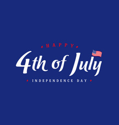 4th july independence day vintage banner blue vector