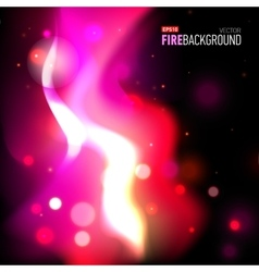Abstract background with fire for presentation vector