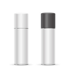 Aerosol spray metal bottle cans vector