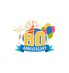 Anniversary eighty years number vector