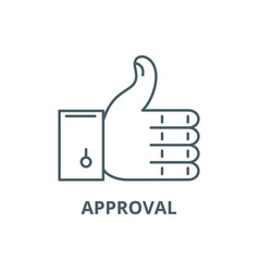 approval line icon approval outline sign vector image