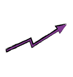 arrow growing upward business financial concept vector image