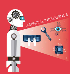 artificial intelligence technology process success vector image