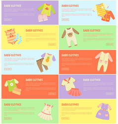 baby clothes set of colorful vector image