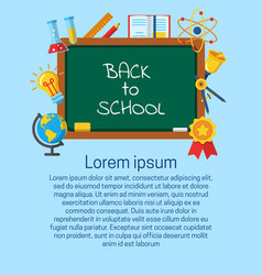 back to school vertical banner vector image