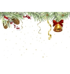 Background for Christmas card Spruce branches and vector image
