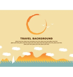 background travel vector image