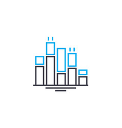 bar chart thin line stroke icon bar chart vector image
