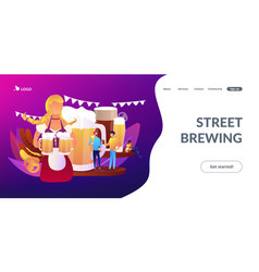 beer fest concept landing page vector image