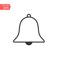 Bell line icon on white background vector