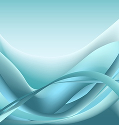 Blue waves abstract background sea vector image