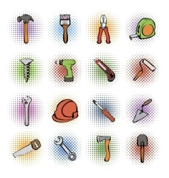 Building comics icons set vector image