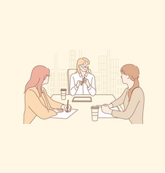 Business meeting discussion planning session vector