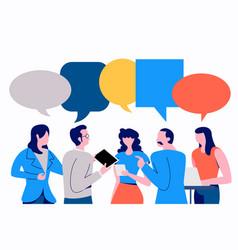 Businessman discuss social vector