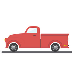 cargo van car transport pick-up auto icon vector image