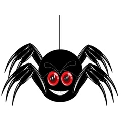Cartoon of the spider on white vector image