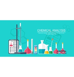 Chemical banner background cover Analytical vector image